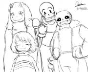 undertale character from toby fox by mister525  coloring pages