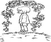 undertale girl  coloring pages