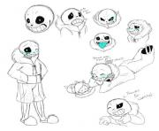 undertale sans sketch study by vdragon  coloring pages