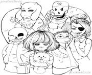undertale valentine s day free lineart by pixelartlinda  coloring pages