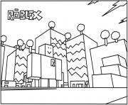 roblox building coloring page coloring pages