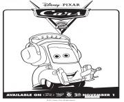 Printable cars 2 movie not chuck disney coloring pages