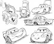 67 Top Coloring Pages From Cars The Movie  Images