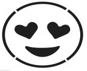 Print Laughing Face Emoji Black And White Smiling Face With Hear coloring pages