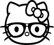 Printable hello kitty emoji coloring pages