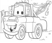 Print disney cars mater coloring pages