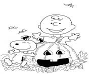 Print charlie brown halloween coloring pages
