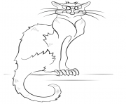 Print black cat halloween coloring pages
