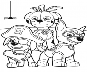 Print paw patrol party halloween coloring pages