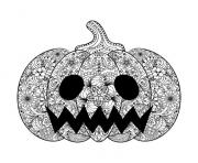 adult halloween scary pumpkin coloring pages