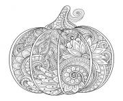 Printable beautiful halloween adult pumpkin zentangle coloring pages