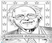 bernie sanders coloring pages