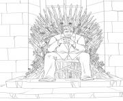 Print donald trump Iron throne trump coloring pages