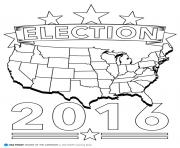 Printable election 2016 america coloring pages