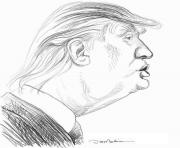 Printable donald trump face coloring pages