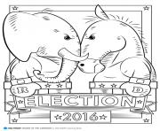 Print election 2016 usa campaign coloring pages