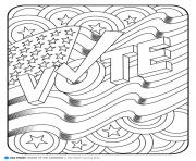 Print america vote coloring pages