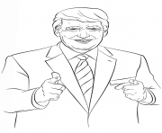 donald trump all good coloring pages