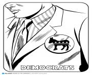 Print democrats coloring pages