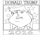 Print donald trump 2016 coloring pages