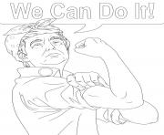 Print donald trump we can do it coloring pages