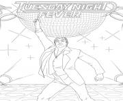 Print donald trump Saturday Night Fever coloring pages
