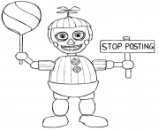 Print Balloon Boy Phantom Five Nights At Freddys Fnaf Coloring Pages