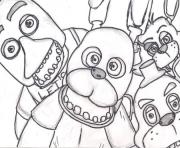 Printable family five nights at freddys fnaf 2 coloring pages