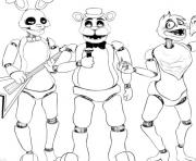 Printable five nights at freddys fnaf 2 singer music coloring pages