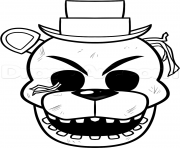 Printable not happy five nights at freddy fnaf coloring pages
