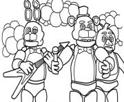 Printable five nights at freddys fnaf music band coloring pages