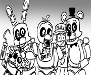 Print freddy s at five nights fnaf lets eat coloring pages