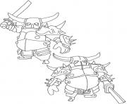 Printable Pekka 3 clash of clans coloring pages