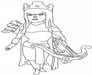 Printable archer queen clash of clans coloring pages