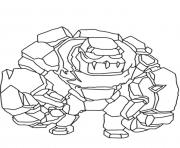 Printable golem clash of clans coloring pages