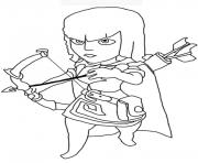 archer clash of clans coloring pages