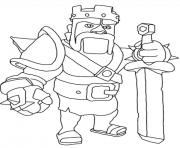 Printable barbarian king clash of clans coloring pages