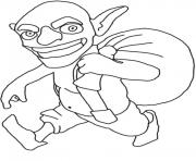 Printable goblin clash of clans coloring pages