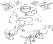 troop group clash of clans coloring pages