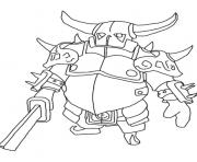 PEKKA clash of clans coloring pages