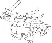 Printable Pekka attack mode clash of clans coloring pages