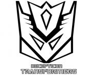 Printable decepticon transformers 1  coloring pages
