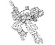 Print transformers optimus  coloring pages