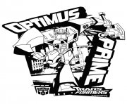 Print transformers optimus prime 3  coloring pages