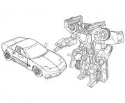 Print transformers car  coloring pages