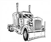 Printable transformers optimus prime truck  coloring pages