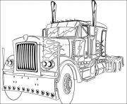 Print transformers truck  coloring pages