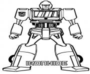 Print transformers Iron Hide a4 coloring pages