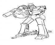 Print transformers Lone fighter a4 coloring pages