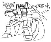 Printable transformers Star Scream a4 coloring pages
